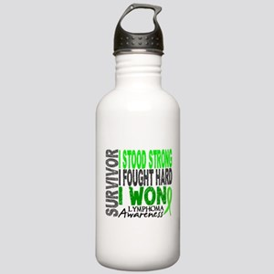 Survivor 4 Lymphoma Shirts and Gifts Stainless Wat