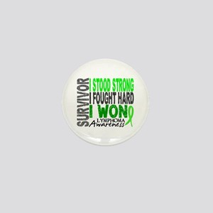 Survivor 4 Lymphoma Shirts and Gifts Mini Button