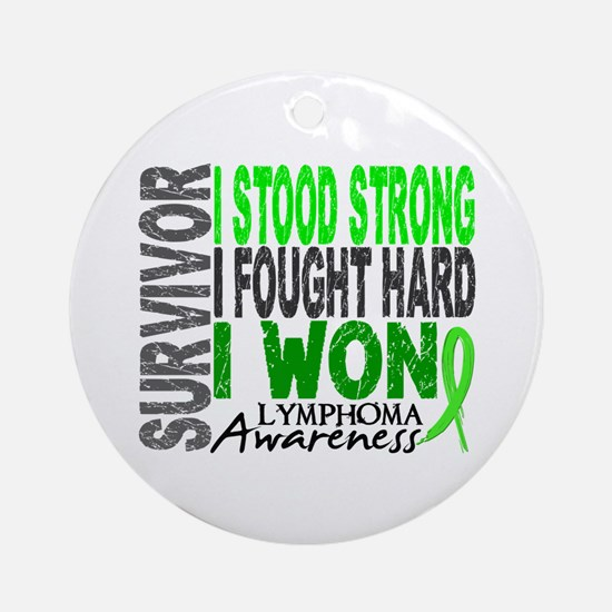 Survivor 4 Lymphoma Shirts and Gifts Ornament (Rou