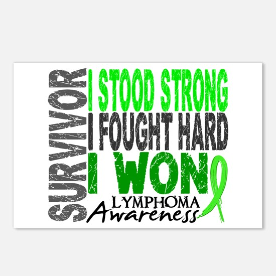 Survivor 4 Lymphoma Shirts and Gifts Postcards (Pa