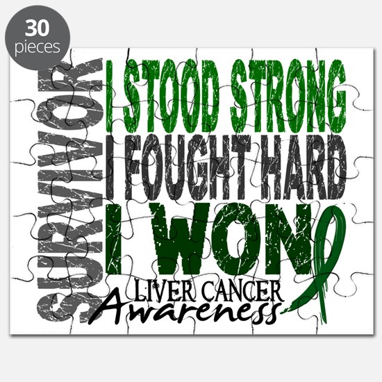 Survivor 4 Liver Cancer Shirts and Gifts Puzzle