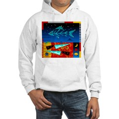 Art Shirt - 'Star over Fuji' Hooded Sweatshirt