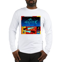 Art Shirt - 'Star over Fuji' Long Sleeve T-Shirt