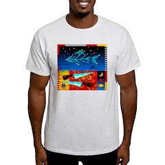 Art Shirt - 'Star over Fuji' Ash Grey T-Shirt