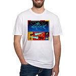 Art Shirt - 'Star over Fuji' Fitted T-Shirt