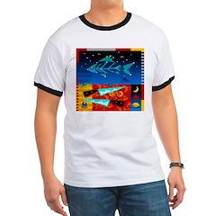 Art Shirt - 'Star over Fuji' Ringer T