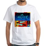 Art Shirt - 'Star over Fuji' White T-Shirt