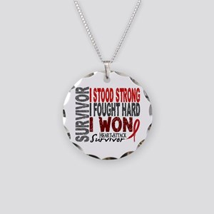 Survivor 4 Heart Attack Shirts and Gifts Necklace