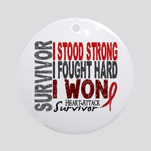Survivor 4 Heart Attack Shirts and Gifts Ornament