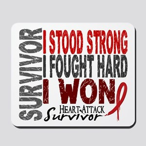 Survivor 4 Heart Attack Shirts and Gifts Mousepad