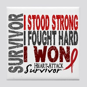 Survivor 4 Heart Attack Shirts and Gifts Tile Coas
