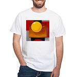 Art Shirt - 'Model of the Sun White T-Shirt