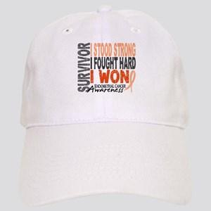 Survivor 4 Endometrial Cancer Shirts and Gifts Cap