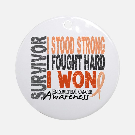 Survivor 4 Endometrial Cancer Shirts and Gifts Orn