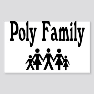 Poly Family Rectangle Sticker