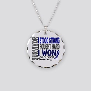 Survivor 4 Colon Cancer Shirts and Gifts Necklace