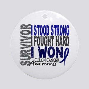 Survivor 4 Colon Cancer Shirts and Gifts Ornament