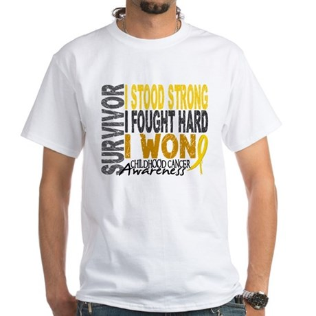 Survivor 4 Childhood Cancer Shirts and Gifts White