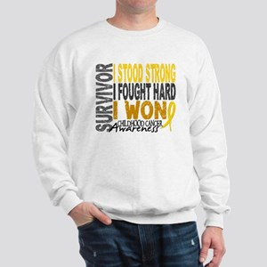 Survivor 4 Childhood Cancer Shirts and Gifts Sweat