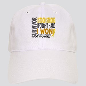 Survivor 4 Childhood Cancer Shirts and Gifts Cap