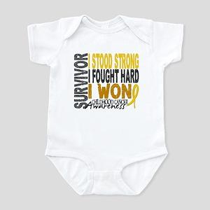 Survivor 4 Childhood Cancer Shirts and Gifts Infan