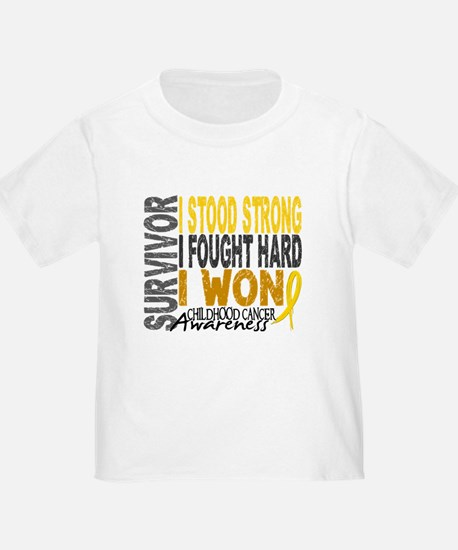 Survivor 4 Childhood Cancer Shirts and Gifts Toddl