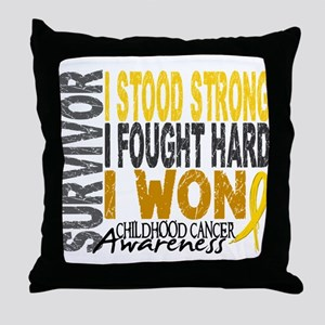 Survivor 4 Childhood Cancer Shirts and Gifts Throw