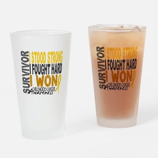 Survivor 4 Childhood Cancer Shirts and Gifts Drink