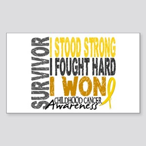 Survivor 4 Childhood Cancer Shirts and Gifts Stick