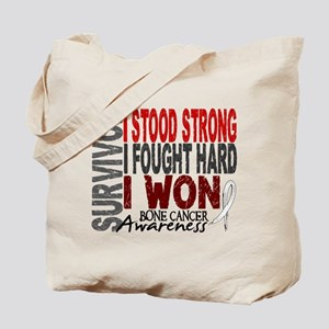 Survivor 4 Bone Cancer Shirts and Gifts Tote Bag