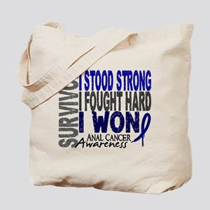Survivor 4 Anal Cancer Shirts and Gifts Tote Bag