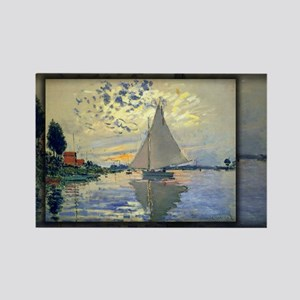 Sailboat at Le Petit-Gennevilliers, Monet, Rectang