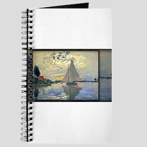 Sailboat at Le Petit-Gennevilliers, Monet, Journal