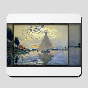 Sailboat at Le Petit-Gennevilliers, Monet, Mousepa