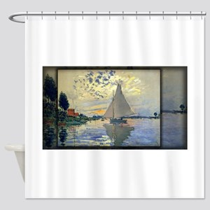 Sailboat at Le Petit-Gennevilliers, Monet, Shower