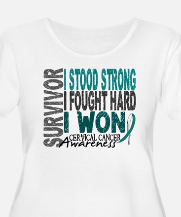 Survivor 4 Cervical Cancer Shirts and Gifts Women'