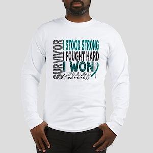 Survivor 4 Cervical Cancer Shirts and Gifts Long S