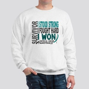 Survivor 4 Cervical Cancer Shirts and Gifts Sweats