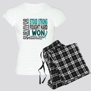 Survivor 4 Cervical Cancer Shirts and Gifts Women'