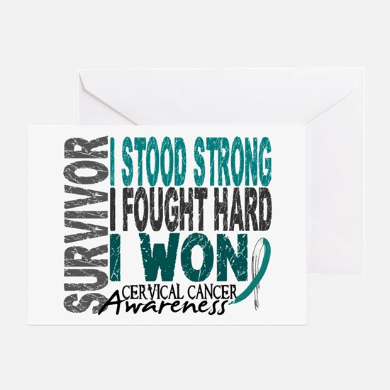 Survivor 4 Cervical Cancer Shirts and Gifts Greeti