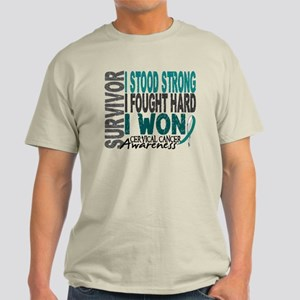 Survivor 4 Cervical Cancer Shirts and Gifts Light