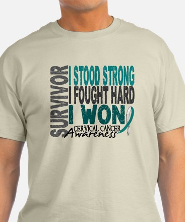 Survivor 4 Cervical Cancer Shirts and Gifts T-Shirt