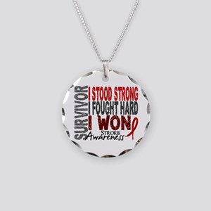 Survivor 4 Stroke Shirts and Gifts Necklace Circle