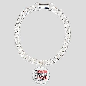 Survivor 4 Stroke Shirts and Gifts Charm Bracelet,