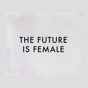 the future is female Throw Blanket
