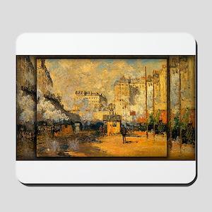 Saint-Lazare Station, Sunlight Effect, Monet, Mous