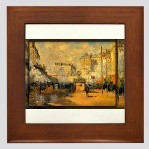 Saint-Lazare Station, Sunlight Effect, Monet, Fram