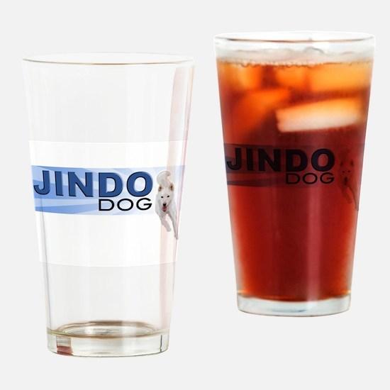 Jindo run Drinking Glass