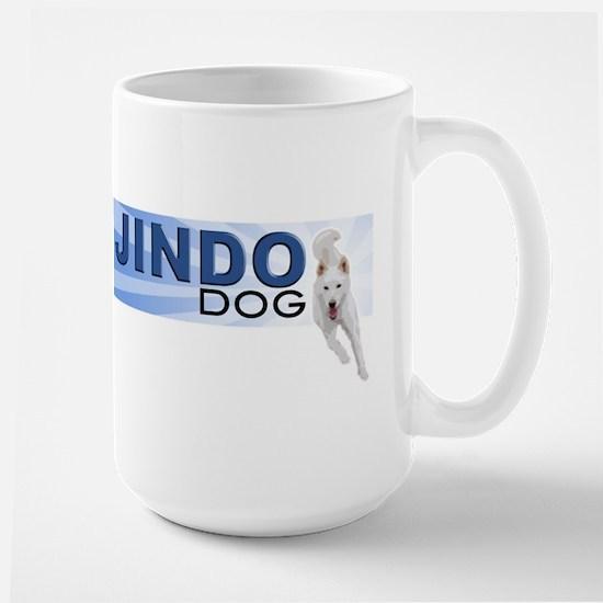 Jindo run Large Mug