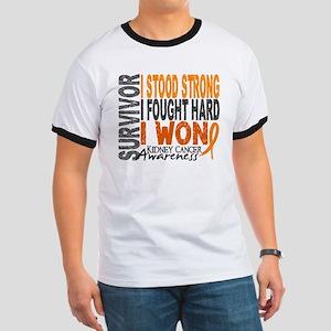 Survivor 4 Kidney Cancer Shirts and Gifts Ringer T